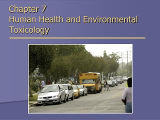 Chapter 7 Human Health and Environmental   Toxicology