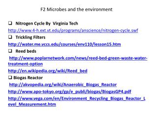 F2 Microbes and the environment