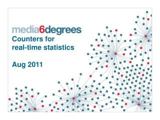Counters for  real-time statistics  Aug 2011
