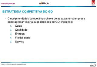 ESTRATÉGIA COMPETITIVA DO GO
