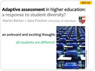 Adaptive  assessment  in higher education:  a response to student diversity?