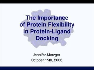 The Importance  of Protein Flexibility  in Protein-Ligand  Docking