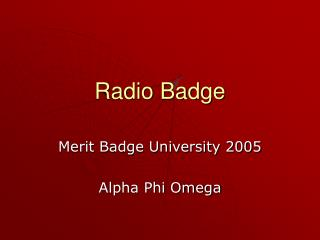 Radio Badge