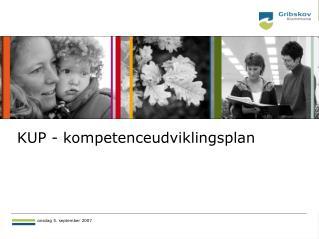 KUP - kompetenceudviklingsplan