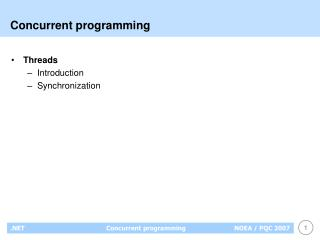 Concurrent programming