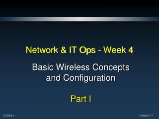 Network & IT Ops - Week 4