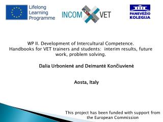 WP II. Development of Intercultural Competence.