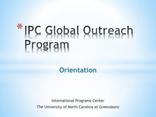 IPC Global Outreach Program