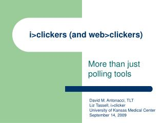 i>clickers (and web>clickers)