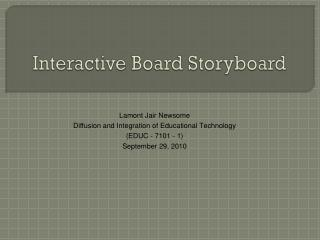 Interactive Board Storyboard