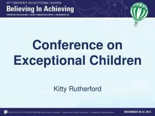Conference on Exceptional Children