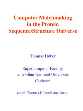 Computer Matchmaking in the Protein Sequence/Structure Universe