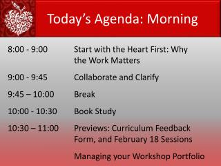 8:00 - 9:00		Start with the Heart First: Why 				the Work Matters