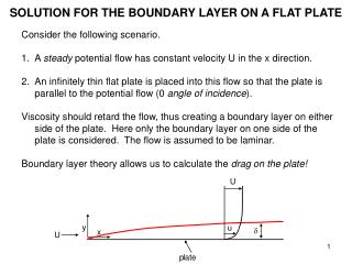 SOLUTION FOR THE BOUNDARY LAYER ON A FLAT PLATE