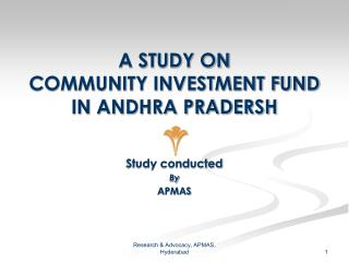 A STUDY ON  COMMUNITY INVESTMENT FUND IN ANDHRA PRADERSH