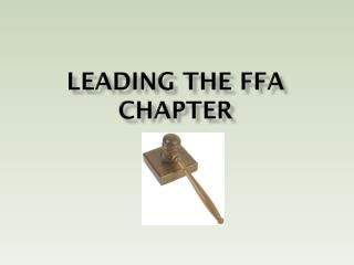 Leading the FFA Chapter
