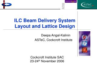 ILC Beam Delivery System  Layout and Lattice Design