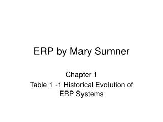 ERP by Mary Sumner