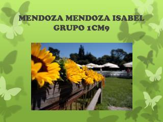 MENDOZA MENDOZA ISABEL GRUPO 1CM9