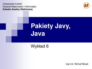 Pakiety Javy,  Java