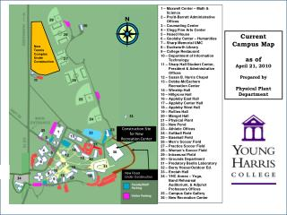 Current  Campus Map as of April 21, 2010 Prepared by Physical Plant  Department