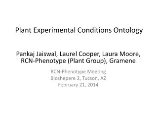 Plant Experimental Conditions Ontology