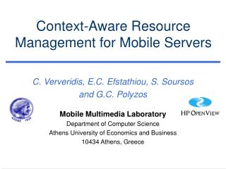 Context-Aware Resource Management for Mobile Servers