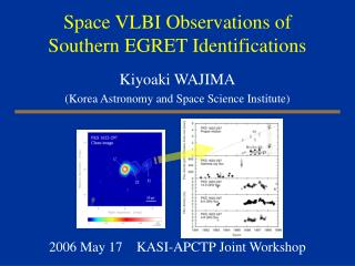 Space VLBI Observations of Southern EGRET Identifications