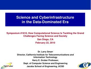 Science and Cyberinfrastructure  in the Data-Dominated Era