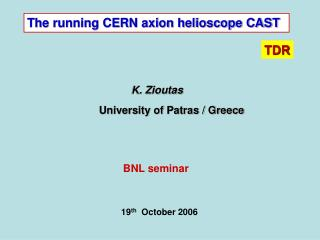 The running CERN axion helioscope CAST