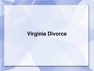 Virginia Divorce