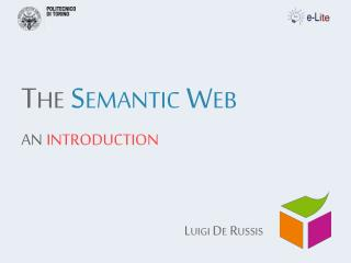 The  Semantic Web an  introduction