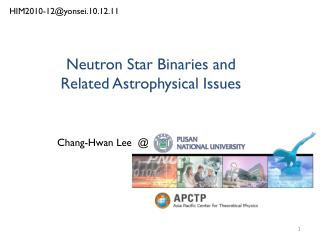 Neutron Star Binaries and  Related Astrophysical Issues
