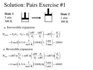 Solution: Pairs Exercise #1