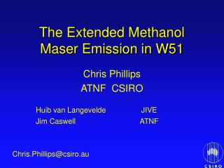 The Extended Methanol Maser Emission in W51