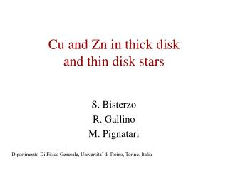Cu and Zn in thick disk  and thin disk stars
