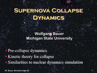 Supernova Collapse Dynamics