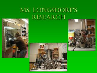 Ms. Longsdorf's  research