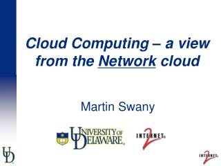 Cloud Computing   a view from the Network cloud