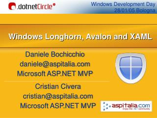 Windows Longhorn, Avalon and XAML