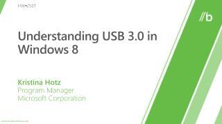 Understanding USB 3.0 in Windows 8