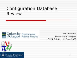 Configuration Database  Review