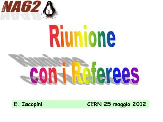 Riunione c on i Referees