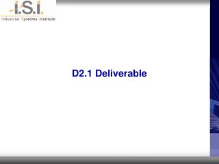 D2.1 Deliverable