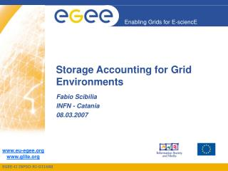 Storage Accounting for Grid Environments
