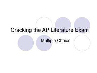 Cracking the AP Literature Exam