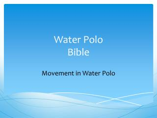 Water Polo Bible
