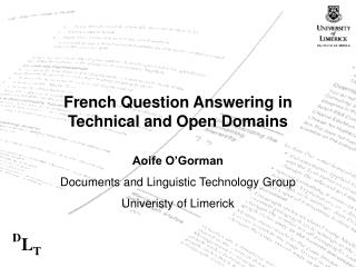 French Question Answering in Technical and Open Domains