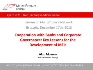 European  Microfinance Network Brussels , December 17th, 2013