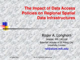 The Impact of Data Access Policies on Regional Spatial Data Infrastructures